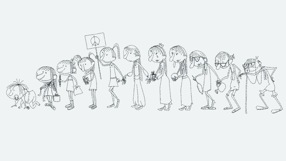 line characters age