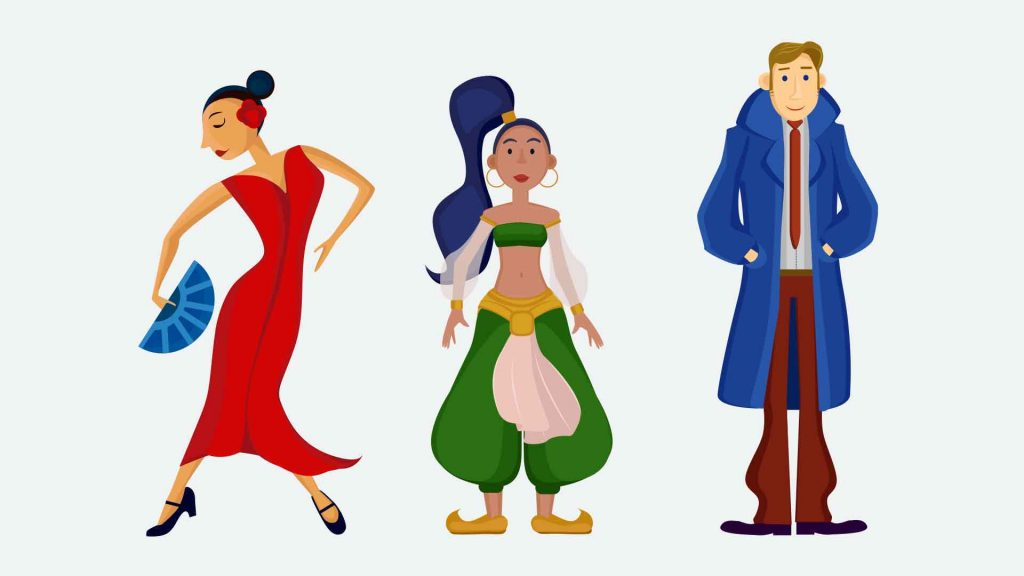 flat design, characters, vector, custom illustration