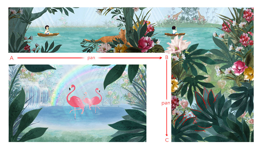 "cartoons background - Episode ""Jungle"" Brand: Monnalisa"