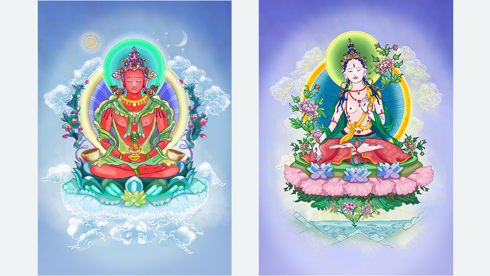 Illustrations for yoga website