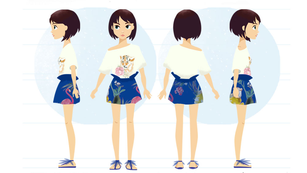cartoon body turnaround - for project brand Monnalisa