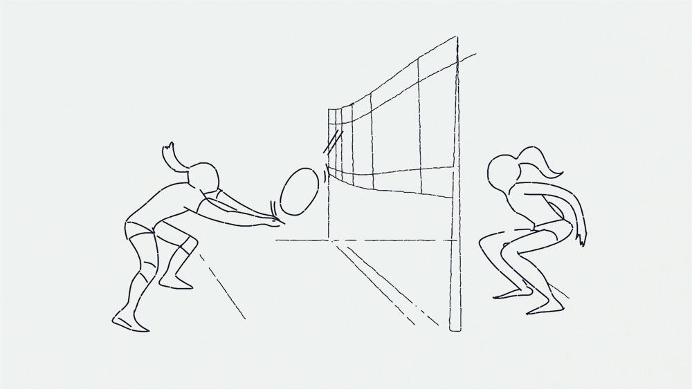 outline, characters, sport graphic